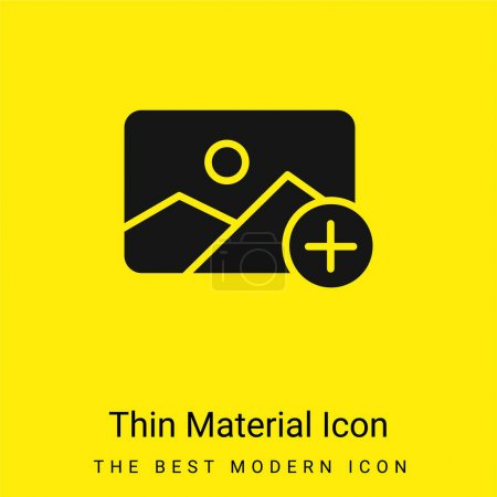 Illustration pour Ajouter minime icône de matériau jaune vif - image libre de droit