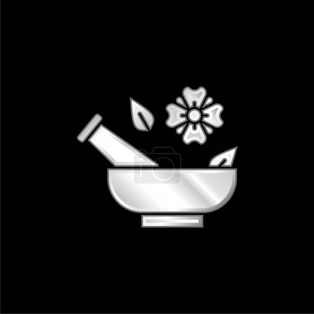 Illustration for Aromatherapy silver plated metallic icon - Royalty Free Image
