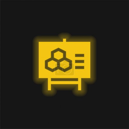 Illustration for Biology yellow glowing neon icon - Royalty Free Image