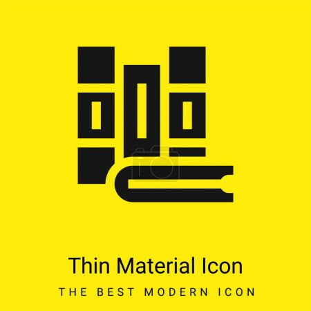 Illustration for Books minimal bright yellow material icon - Royalty Free Image