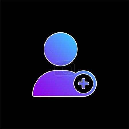 Illustration pour Ajouter l'icône vectorielle de dégradé bleu utilisateur - image libre de droit