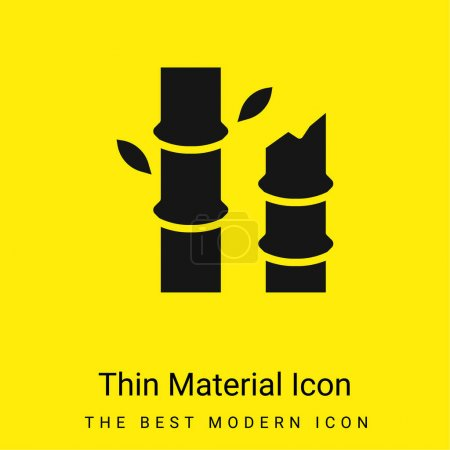 Illustration for Bamboo minimal bright yellow material icon - Royalty Free Image