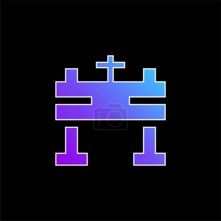 Photo pour Icône vectorielle dégradé bleu autel - image libre de droit