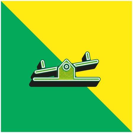 Balancer Green and yellow modern 3d vector icon logo