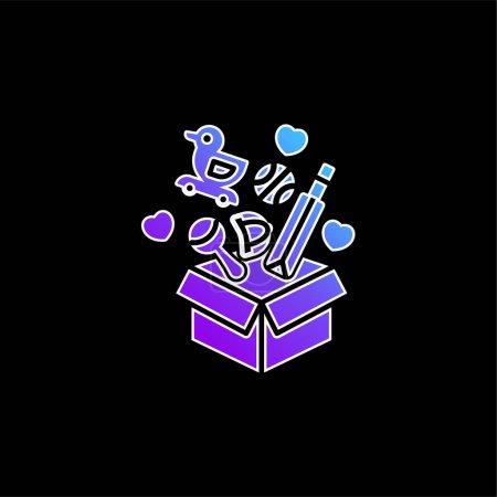 Box blue gradient vector icon