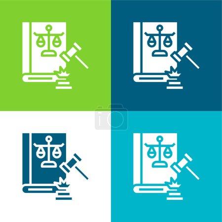 Photo pour Vente aux enchères Ensemble d'icônes minimal quatre couleurs - image libre de droit