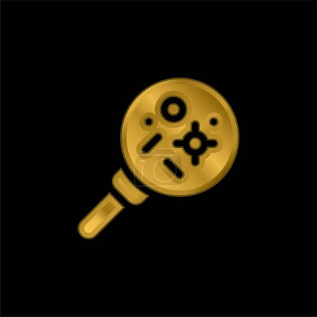 Illustration for Bacteria gold plated metalic icon or logo vector - Royalty Free Image