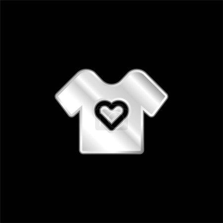 Illustration pour Bébé tissu argent plaqué icône métallique - image libre de droit