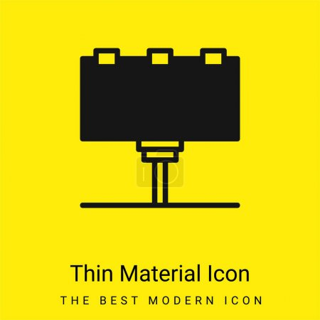 Illustration for Billboard minimal bright yellow material icon - Royalty Free Image