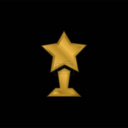 Illustration pour Prix plaqué or icône métallique ou logo vecteur - image libre de droit