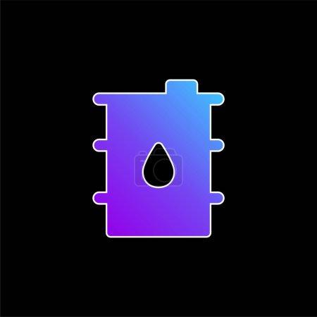 Illustration pour Icône vectorielle de dégradé bleu tonneau - image libre de droit