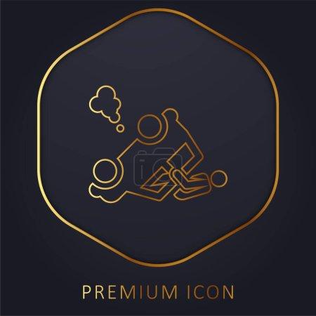 Illustration pour Accident ligne d'or logo premium ou icône - image libre de droit