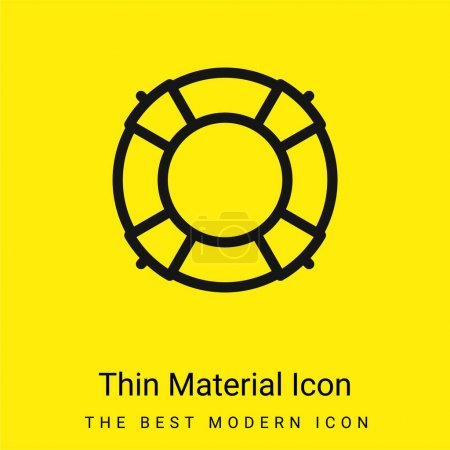 Illustration for Big Lifesaver minimal bright yellow material icon - Royalty Free Image