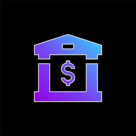Bank blue gradient vector icon
