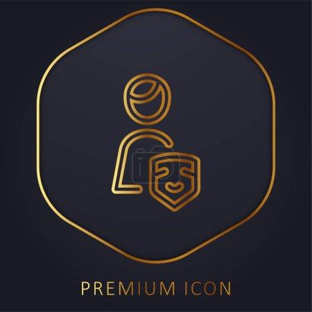 Illustration pour Acteur ligne d'or logo premium ou icône - image libre de droit