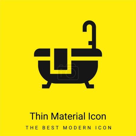 Baño mínimo icono de material amarillo brillante
