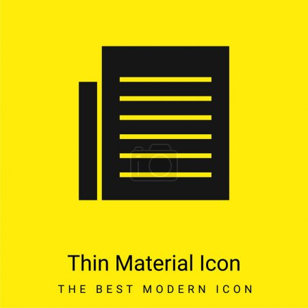 Black Text Page minimal bright yellow material icon
