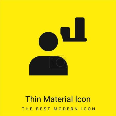 Photo pour Admin minimale icône de matériau jaune vif - image libre de droit