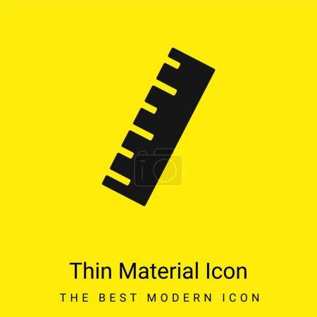 Photo pour Icône matérielle jaune vif minimale de règle noire - image libre de droit