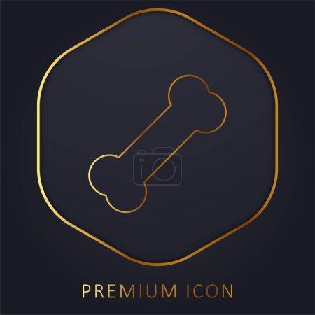 Photo pour Ligne d'or os logo premium ou icône - image libre de droit