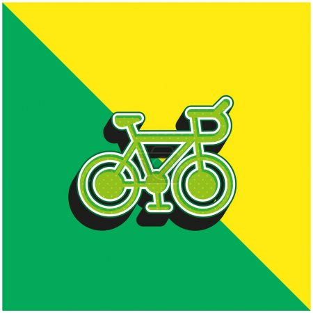 Photo for Bicycle Green and yellow modern 3d vector icon logo - Royalty Free Image