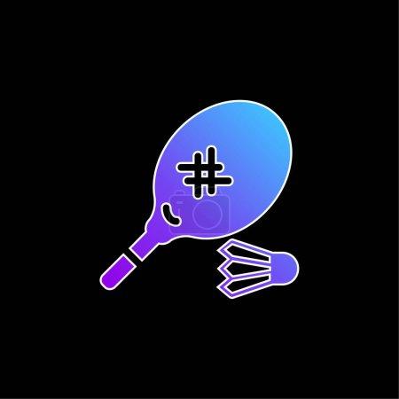 Badminton blue gradient vector icon