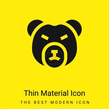 Bear Market minimal bright yellow material icon