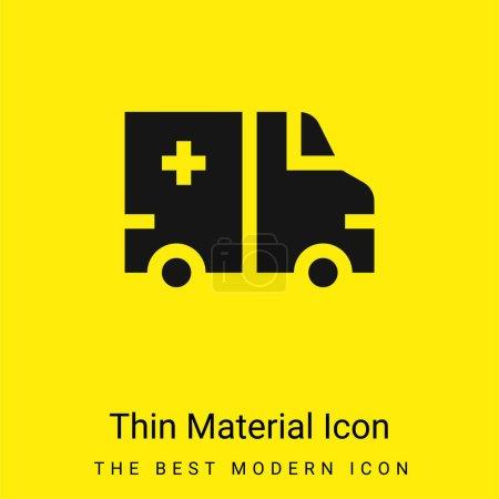 Photo pour Ambulance minime jaune vif icône matérielle - image libre de droit