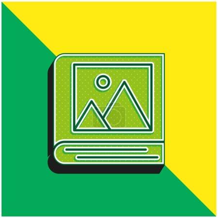 Illustration pour Album Logo vectoriel 3D moderne vert et jaune - image libre de droit