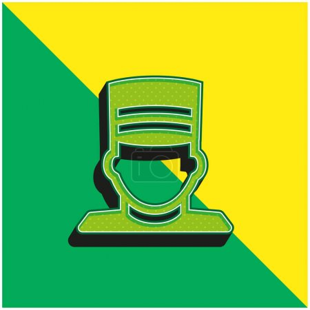 Illustration for Bellboy Green and yellow modern 3d vector icon logo - Royalty Free Image