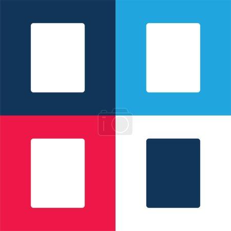 Illustration pour Rectangle noir bleu et rouge quatre couleurs minimum jeu d'icônes - image libre de droit