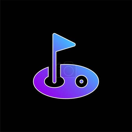 Illustration pour Icône vectorielle dégradé bleu oiseau - image libre de droit