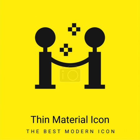 Barrier minimal bright yellow material icon