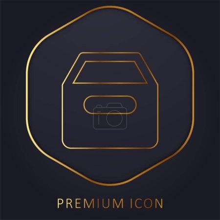 Photo pour Archive ligne d'or logo premium ou icône - image libre de droit