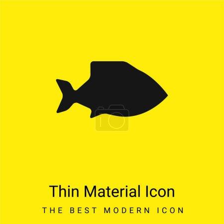 Photo pour Big Fish minime icône matériau jaune vif - image libre de droit
