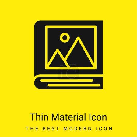 Illustration pour Album minimal jaune vif icône matérielle - image libre de droit