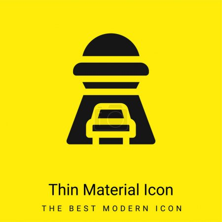 Photo for Abduction minimal bright yellow material icon - Royalty Free Image