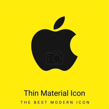 Illustration pour Icône matérielle jaune vif minimale Apple - image libre de droit