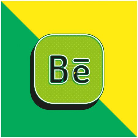 Behance Green and yellow modern 3d vector icon log...