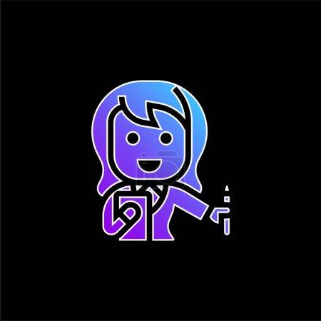 Photo pour Icône vectorielle de dégradé bleu comptable - image libre de droit