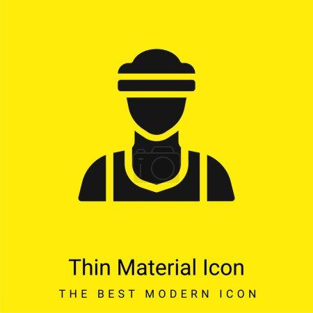Athlete minimal bright yellow material icon