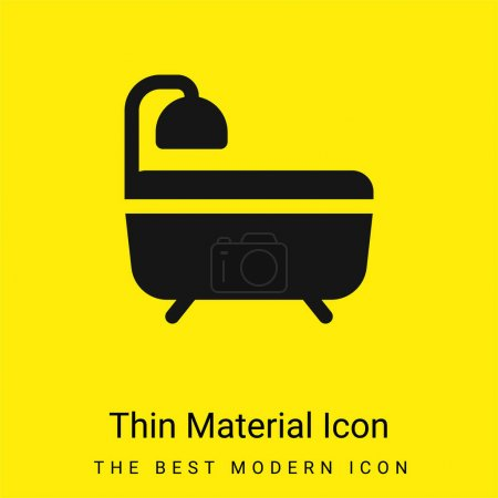 Bath minimal bright yellow material icon