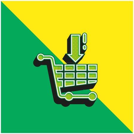 Illustration pour Logo vectoriel 3d moderne vert et jaune - image libre de droit