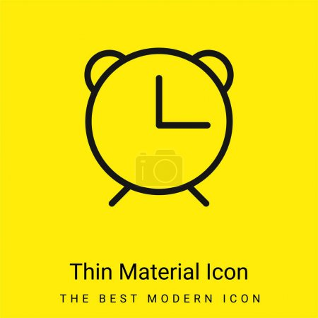Photo for Alarm Clock minimal bright yellow material icon - Royalty Free Image