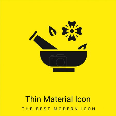 Illustration for Aromatherapy minimal bright yellow material icon - Royalty Free Image