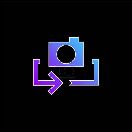 Illustration pour Icône vectorielle de dégradé bleu flèche - image libre de droit