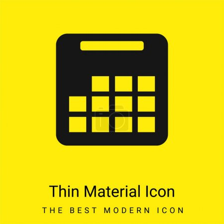 Illustration for Annual Calendar minimal bright yellow material icon - Royalty Free Image