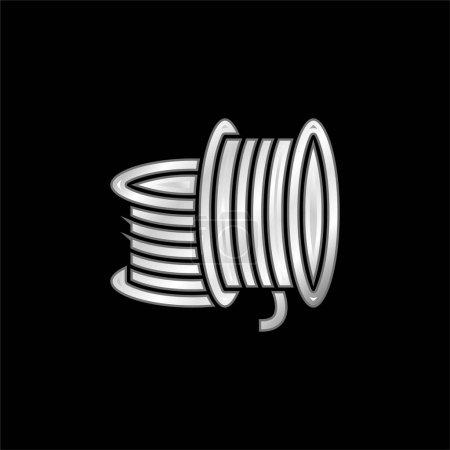 Illustration pour Impression 3D Filament argent plaqué icône métallique - image libre de droit
