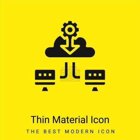 Illustration pour Sauvegarde minimale icône matériau jaune vif - image libre de droit