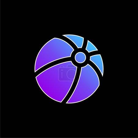 Ball blue gradient vector icon